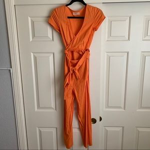 Urban Outfitters Orange Jumpsuit XS